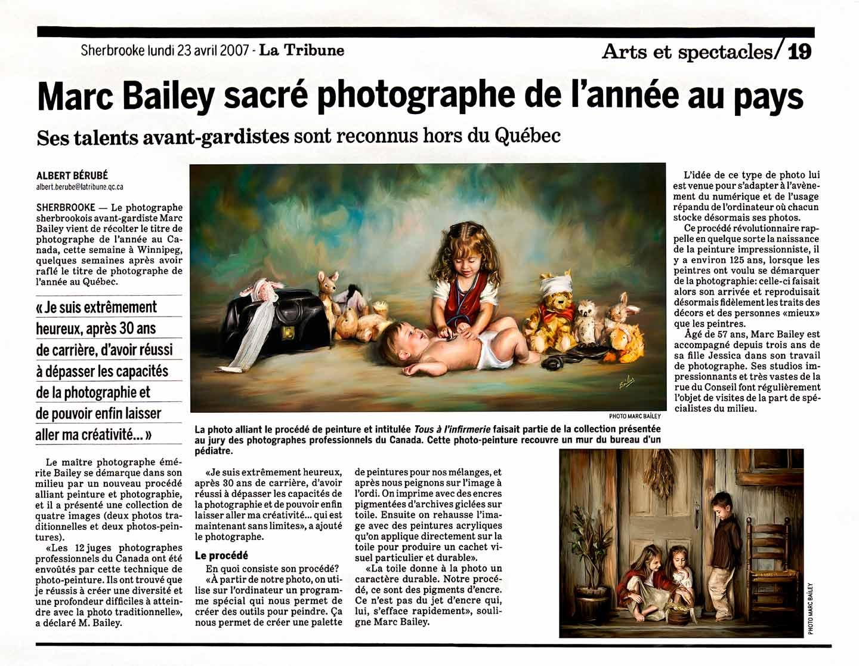 photographe de l'année au Canada Marc Bailey